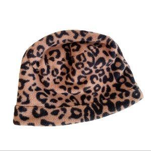 Emanuel Geraldo Animal Print Hat Brown Black